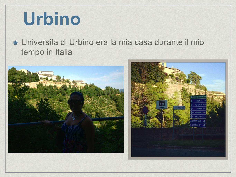 Vita di studentessa in Urbino Ecco la mia vista da italiano classe.