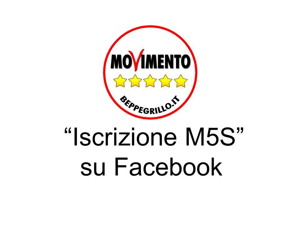 Iscrizione M5S su Facebook