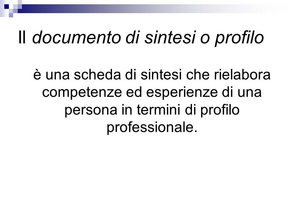 Il progetto professionale descrive gli obiettivi che la persona si pone per il proprio sviluppo professionale e formativo e i mezzi e le azioni necessari a raggiungerli.