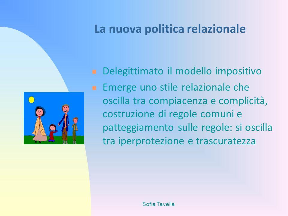 Sofia Tavella La nuova politica relazionale Delegittimato il modello impositivo Emerge uno stile relazionale che oscilla tra compiacenza e complicità,