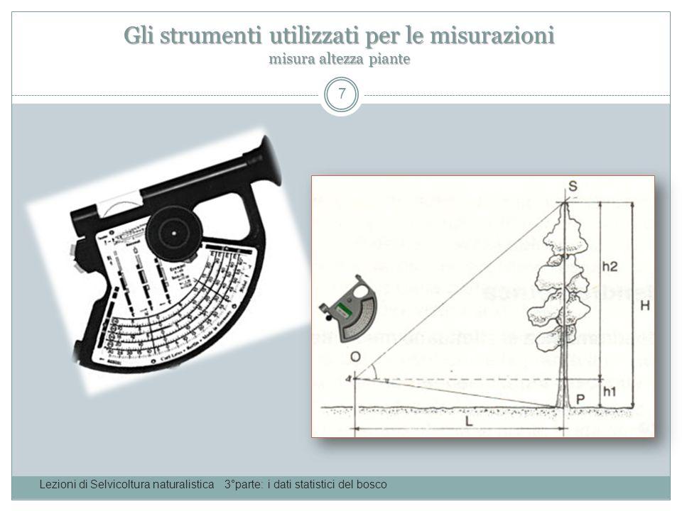 Gli strumenti utilizzati per le misurazioni estrazione carotine Lezioni di Selvicoltura naturalistica 3°parte: i dati statistici del bosco 8
