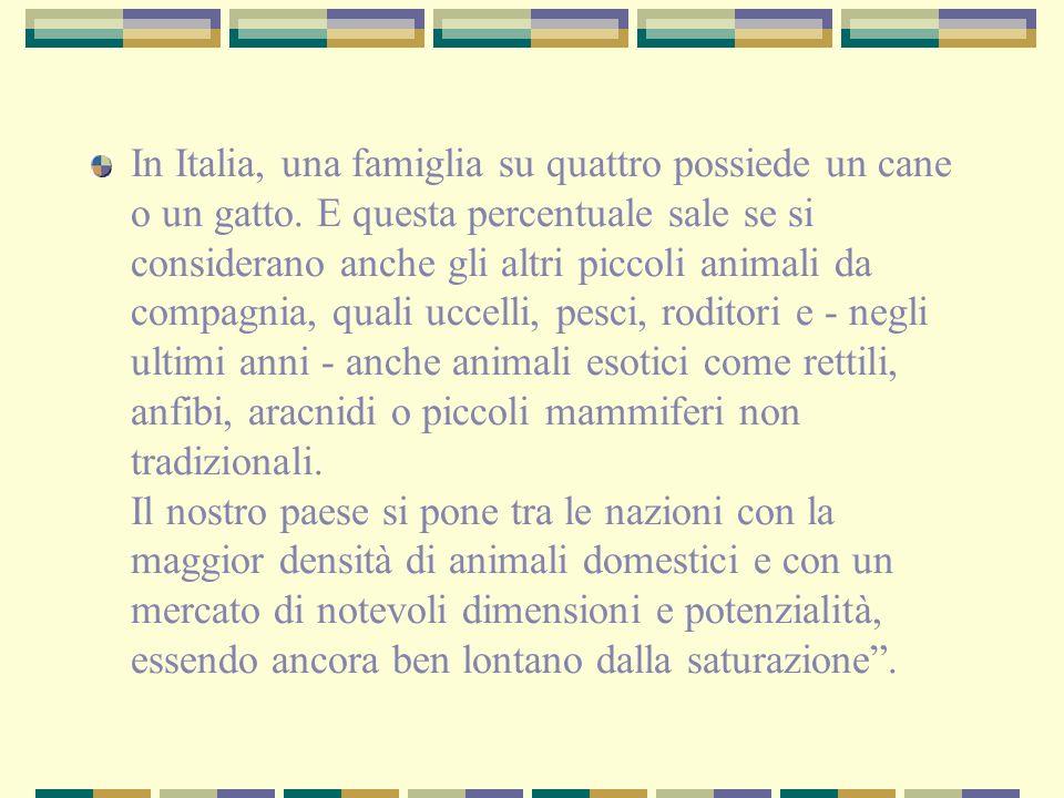 In Italia, una famiglia su quattro possiede un cane o un gatto. E questa percentuale sale se si considerano anche gli altri piccoli animali da compagn