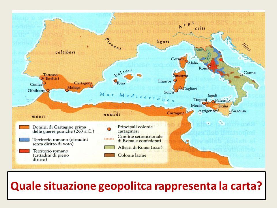 Quale situazione geopolitca rappresenta la carta?