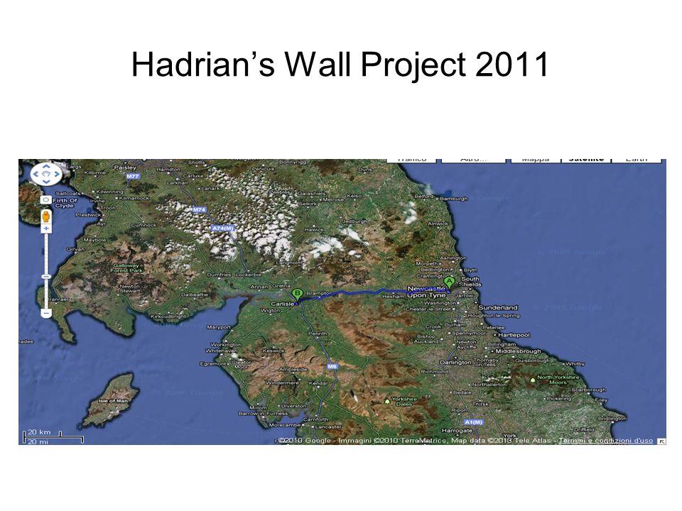 Hadrians Wall Project 2011 CRITERI DI SELEZIONE A) 2 persone in base al merito (media dei voti del primo periodo (gennaio 2011) B) 1 persona a estrazione dalla lista dei rimanenti