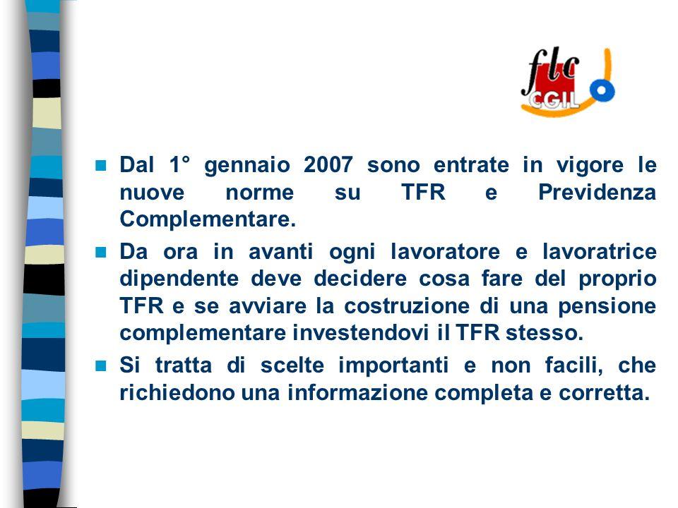 COSA E Il Fondo per lerogazione ai lavoratori dipendenti del settore privato dei trattamenti di fine rapporto di cui allarticolo 2120 del codice civile.