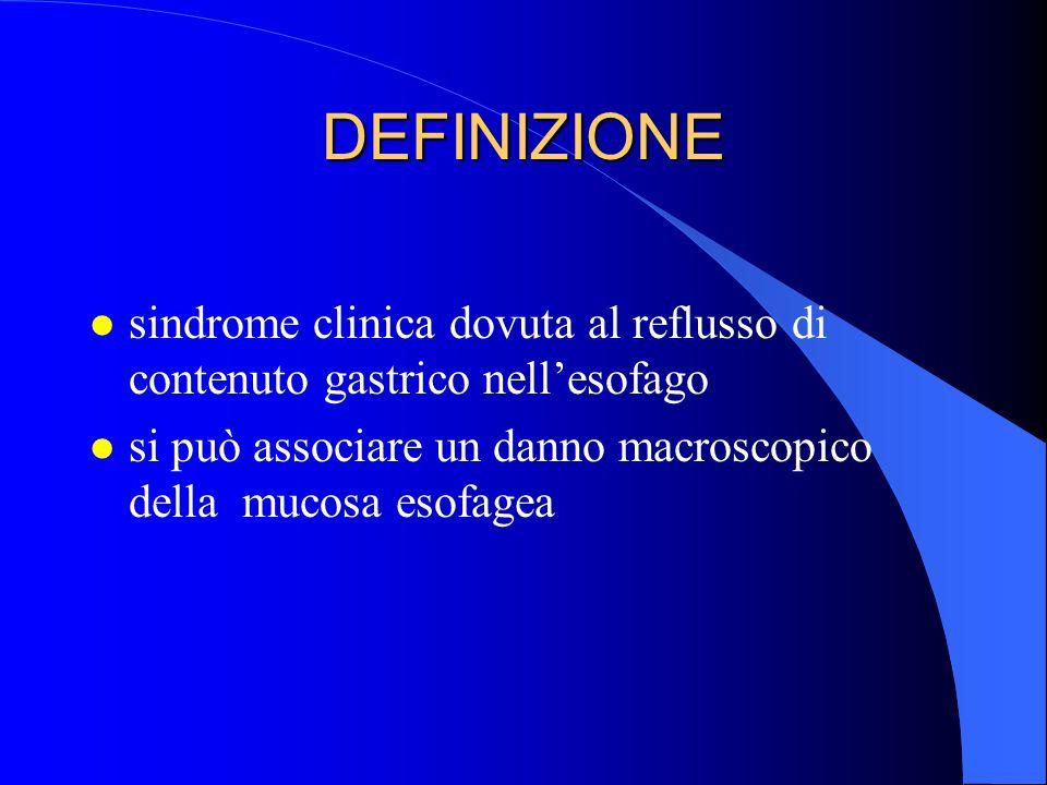 è una sindrome complessa: si possono associare sintomi molteplici e talora sorprendenti (come torcicollo e tosse cronica) e lesioni di varia natura non solo esofagee, ma anche respiratorie quindi: è errato identificare la GERD con la esofagite o con lernia iatale