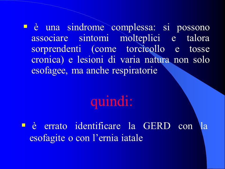 TERAPIA l la GERD è caratterizzata da scarsa percentuale di guarigione spontanea, mentre daltra parte risulta particolarmente elevata lincidenza di recidive alla sospensione della terapia