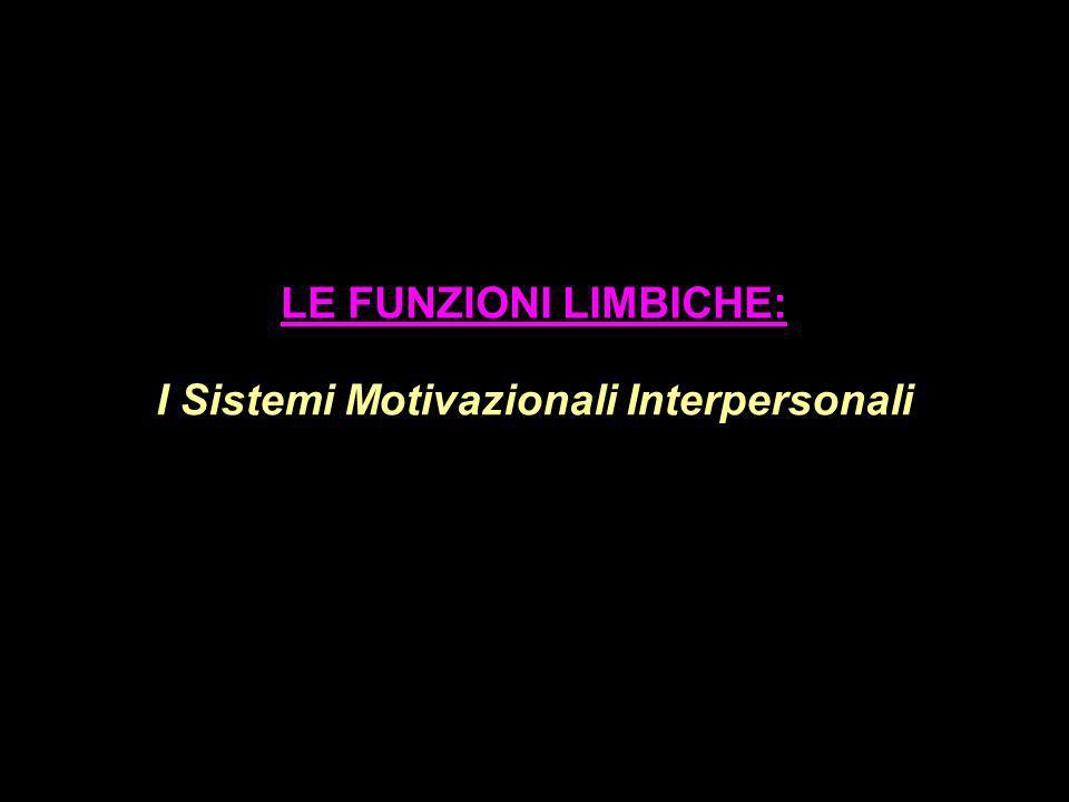 LE FUNZIONI LIMBICHE: I Sistemi Motivazionali Interpersonali