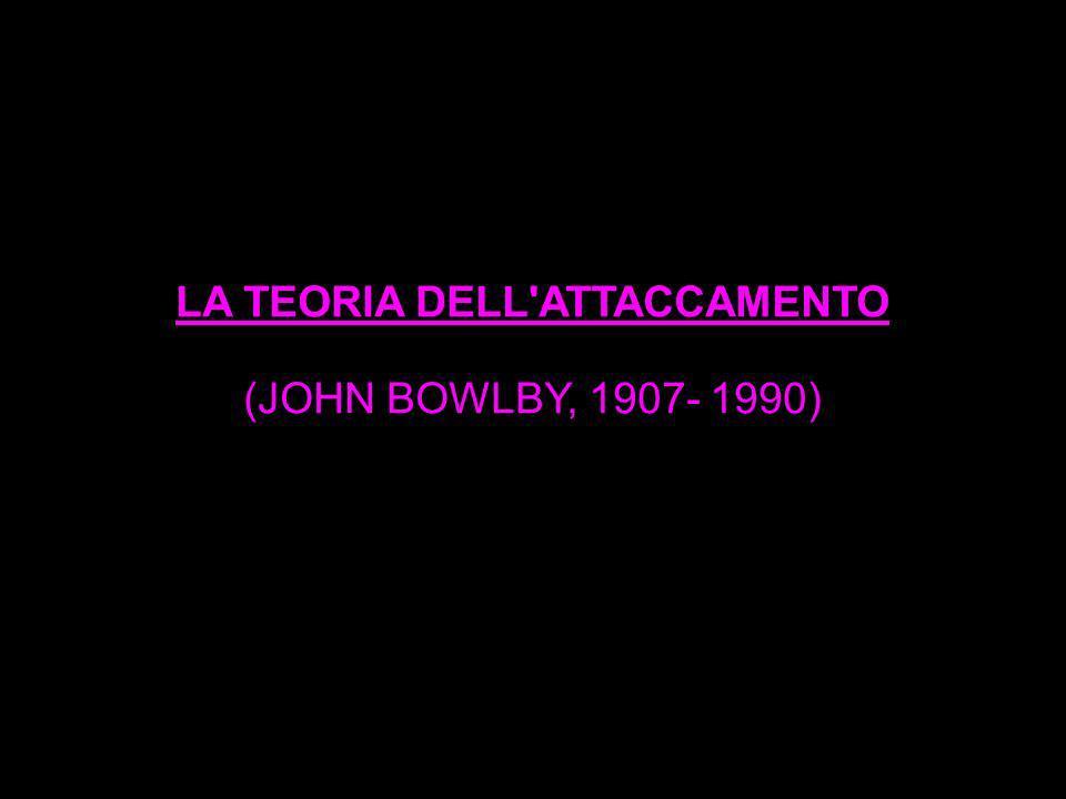 LA TEORIA DELL'ATTACCAMENTO (JOHN BOWLBY, 1907- 1990)