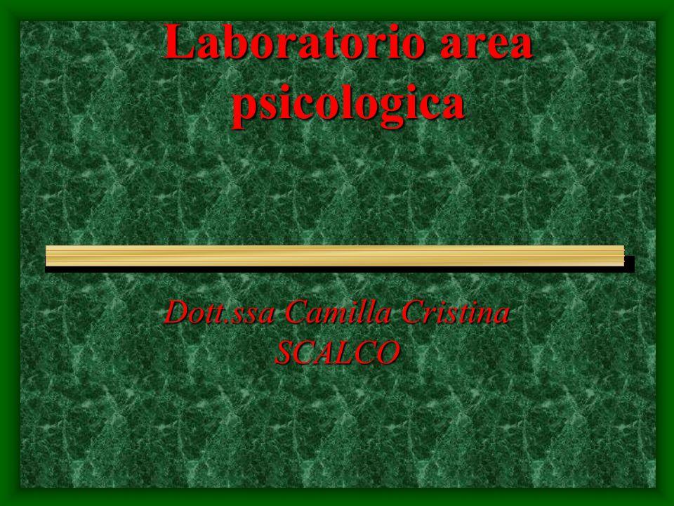 Laboratorio area psicologica Dott.ssa Camilla Cristina SCALCO