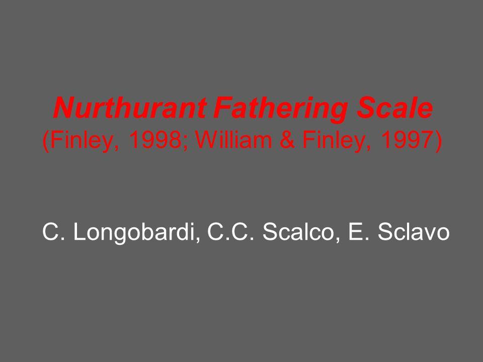 Nurthurant Fathering Scale (Finley, 1998; William & Finley, 1997) C. Longobardi, C.C. Scalco, E. Sclavo