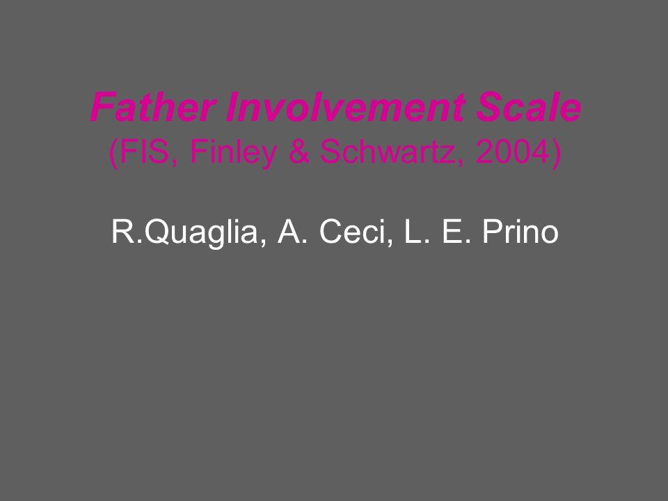 Item Fattore I (Espressivo) (α =,871) Fattore II (Autonomia Trasmissione di valori) (α =,809) Fattore III (Autorevolezz a) (α =,714) Fattore IV (Strumentale) (α =,778) Autorevolezza Nell essere protettivo.229.172.673.162 Nel consigliare.392.336.434.309 Nella disciplina.059.364.416.275 Sostegno economico.139.269.356.230