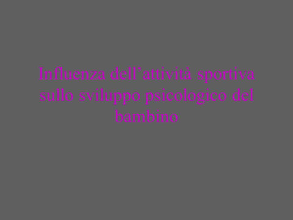 Sport logico e sport istintivo Vi sono attività sportive che richiedono al giovane di dominare ed accantonare ogni reazione istintiva per seguire un particolare processo di attività muscolari concatenate da una logica tecnica che a grado a grado diventerà funzione automatica, portando latleta alla migliore espressione stilistica (tuffi, equitazione, ginnastica, danza….).