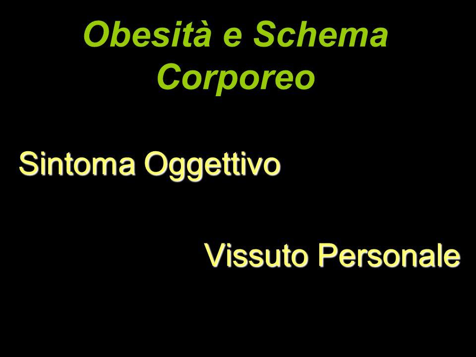 Obesità e Schema Corporeo Sintoma Oggettivo Vissuto Personale