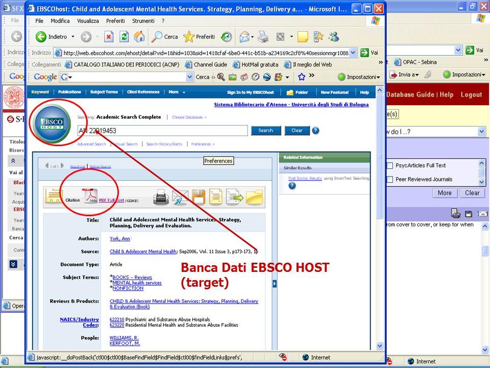 23 Banca Dati EBSCO HOST (target)