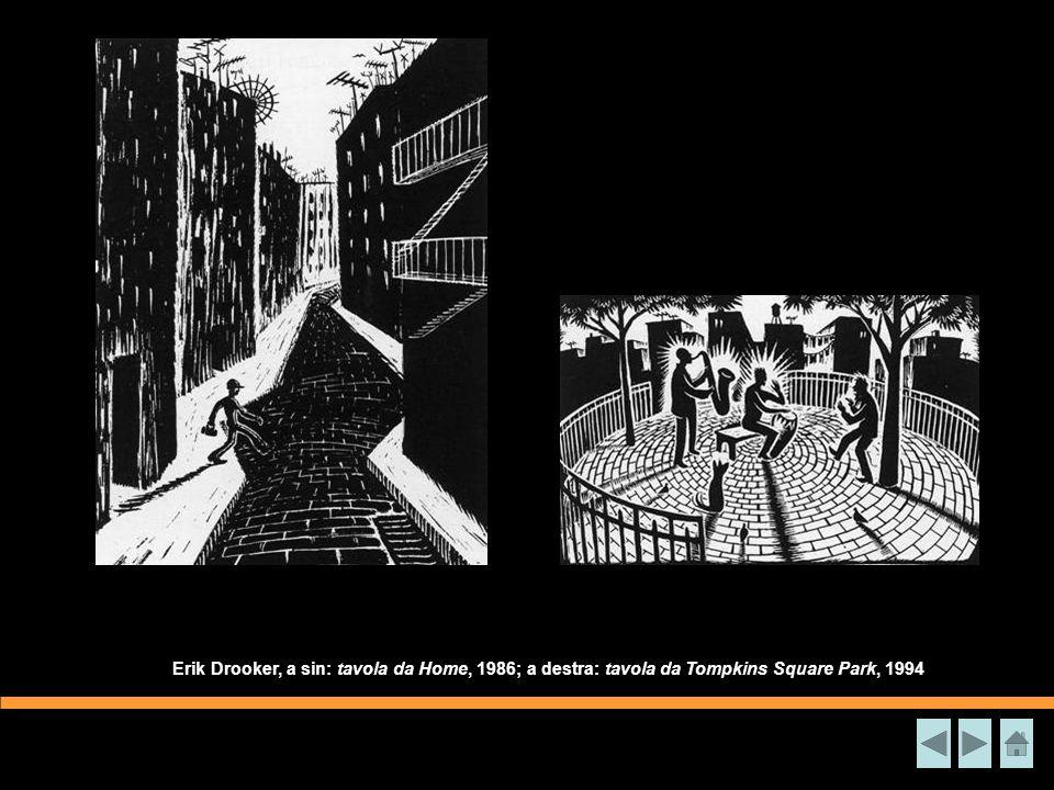 Disegno di Seth Tobocman sulla speculazione edilizia nel Lower East Side, 1990