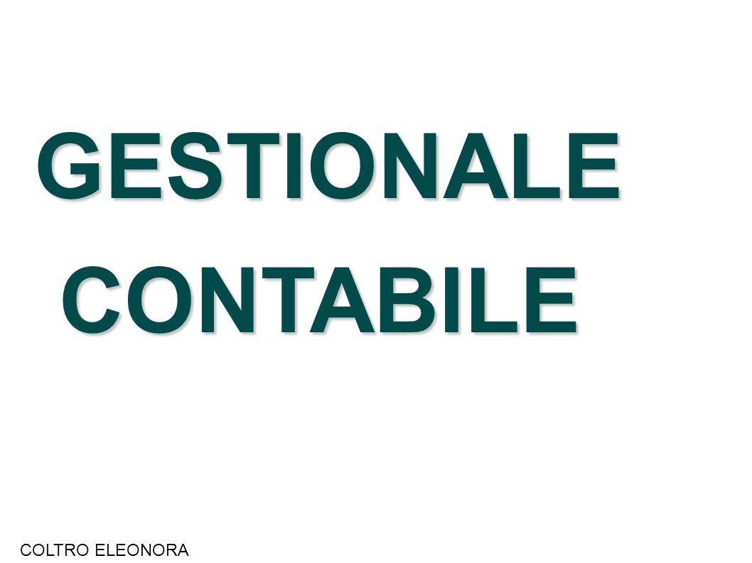 GESTIONALE CONTABILE CONTABILE COLTRO ELEONORA