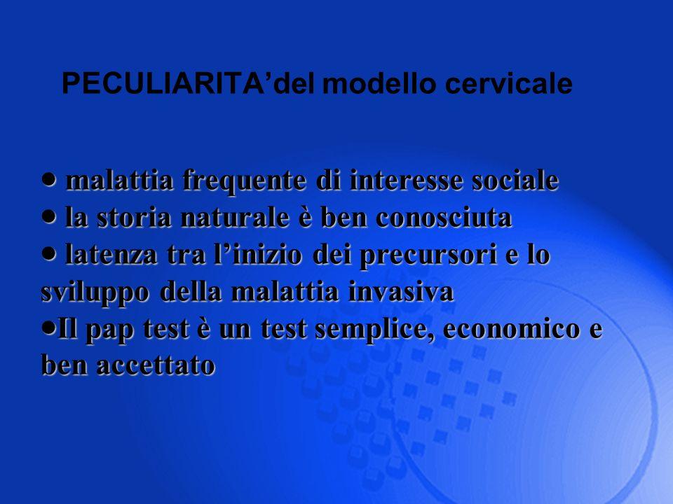 PECULIARITAdel modello cervicale malattia frequente di interesse sociale malattia frequente di interesse sociale la storia naturale è ben conosciuta l