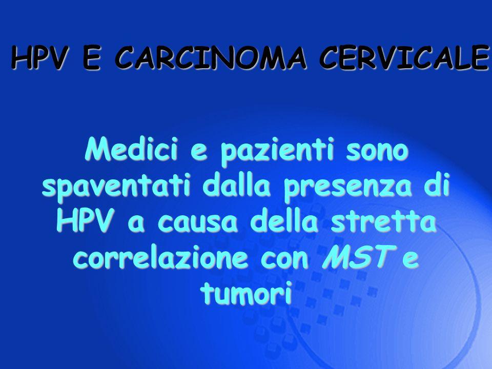 Medici e pazienti sono spaventati dalla presenza di HPV a causa della stretta correlazione con MST e tumori