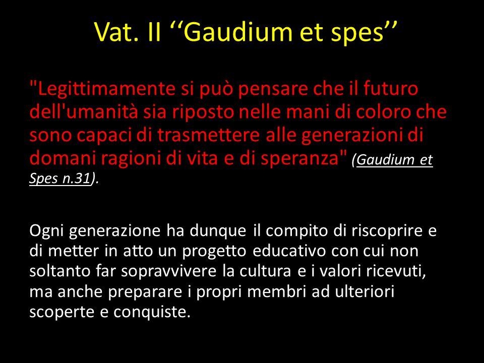 Vat. II Gaudium et spes