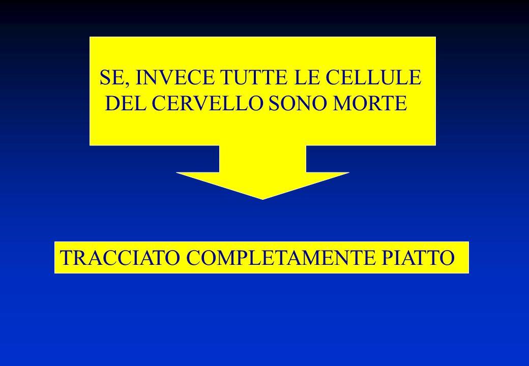 TRACCIATO COMPLETAMENTE PIATTO SE, INVECE TUTTE LE CELLULE DEL CERVELLO SONO MORTE