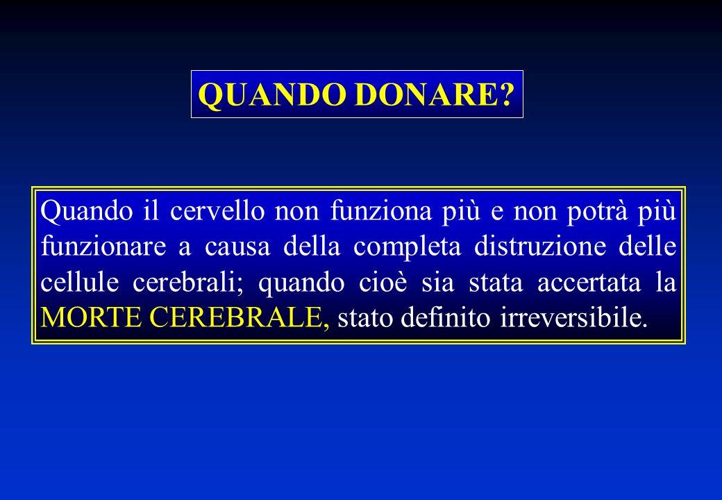 COORDINAMENTO TRAPIANTI INTERAZIONE CON LA FAMIGLIA DEL POTENZIALE DONATORE