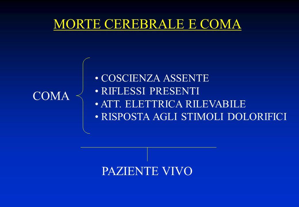 SOSPETTO DI COMA IRREVERSIBILE ESAME CLINICO ESAME STRUMENTALE POSITIVITÀ CONVOCAZIONE COMMISSIONE