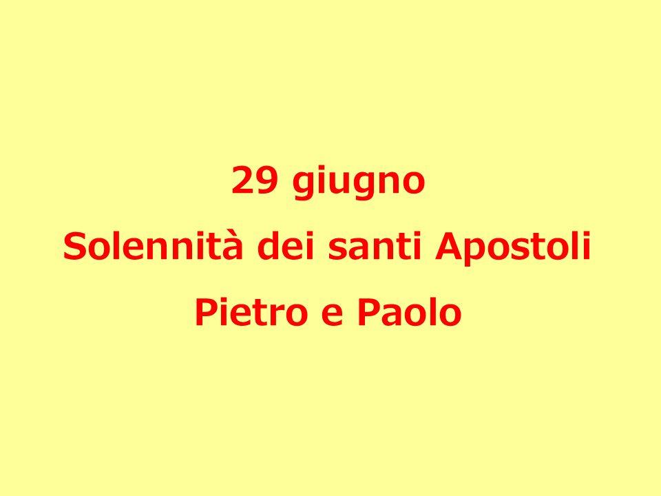 Pietro e Paolo due colonne della chiesa che la liturgia e liconografia antica non separano mai.