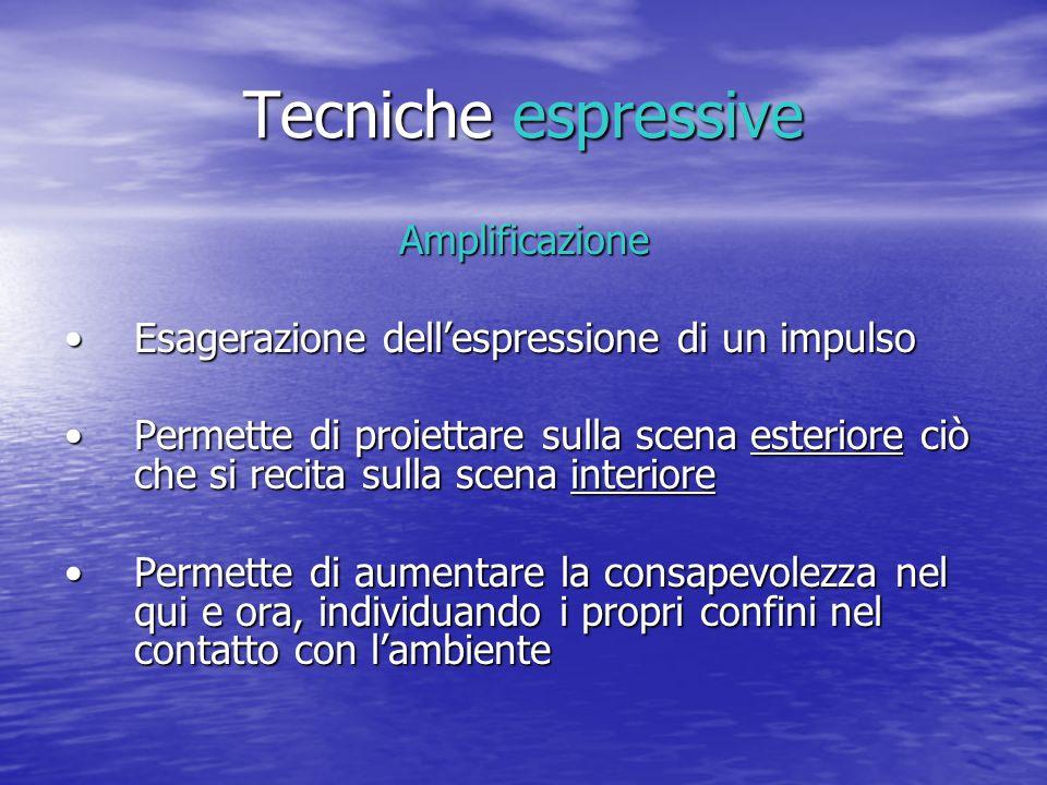 Tecniche espressive Amplificazione Esagerazione dellespressione di un impulsoEsagerazione dellespressione di un impulso Permette di proiettare sulla s