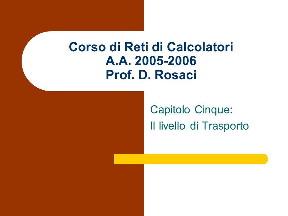 D. Rosaci Corso di Reti di Calcolatori Capitolo Quinto Il preambolo del segmento TCP