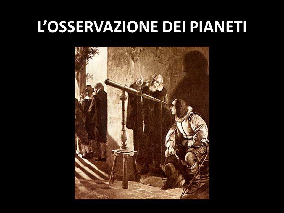 LOSSERVAZIONE DEI PIANETI
