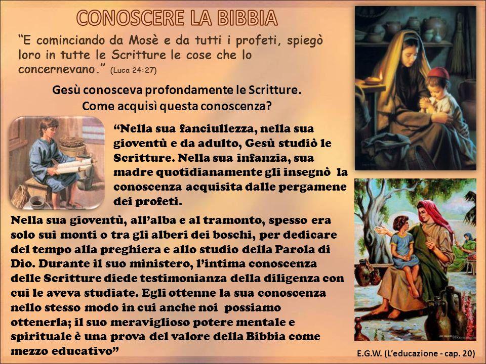 E cominciando da Mosè e da tutti i profeti, spiegò loro in tutte le Scritture le cose che lo concernevano.