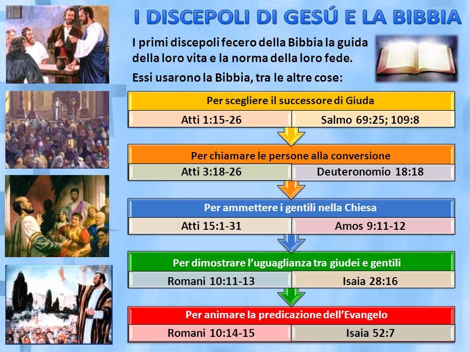 I primi discepoli fecero della Bibbia la guida della loro vita e la norma della loro fede.