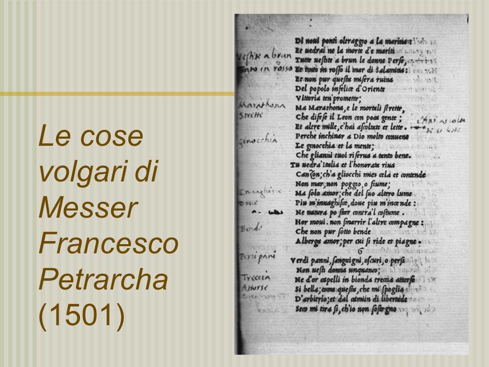 Le cose volgari di Messer Francesco Petrarcha (1501)