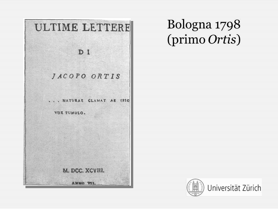 Bologna 1798 (primo Ortis)