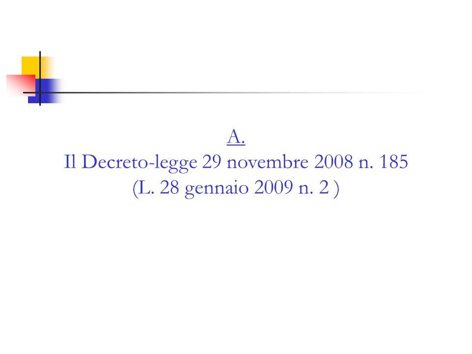 D.L. 185/2008 e nuova disciplina dellO.P.A. ostile: vecchio e nuovo testo dellart.