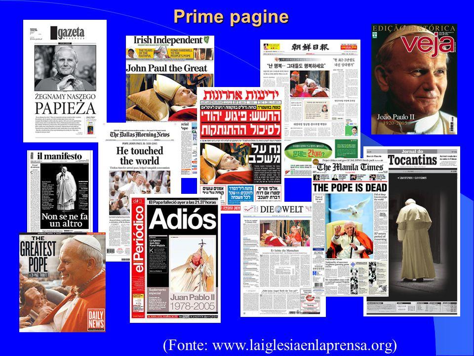 Prime pagine Prime pagine (Fonte: www.laiglesiaenlaprensa.org)