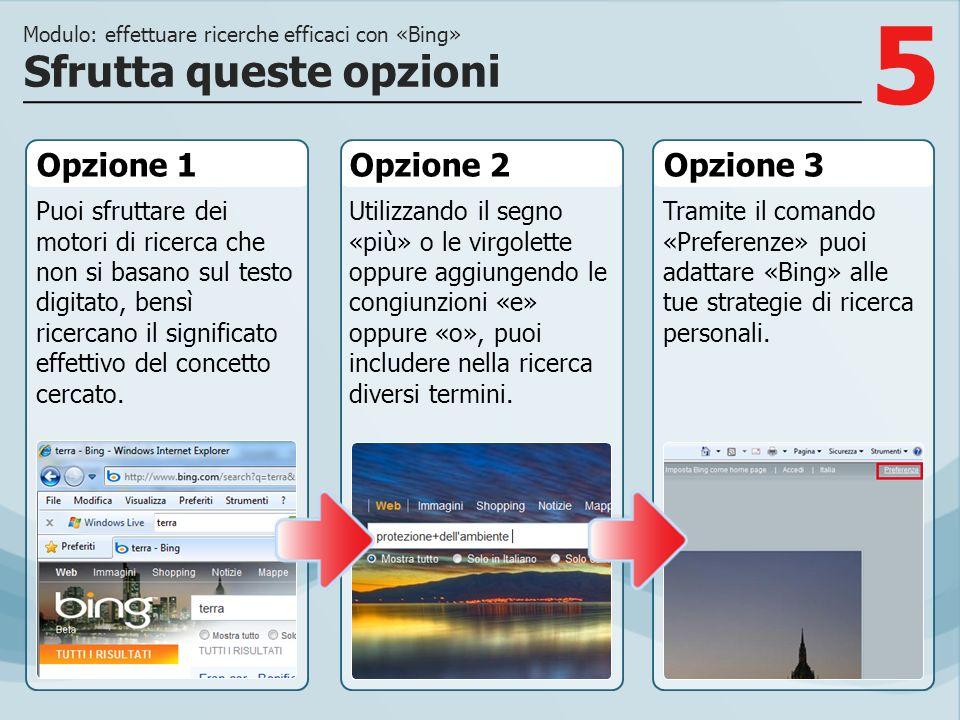 5 Opzione 1 Puoi sfruttare dei motori di ricerca che non si basano sul testo digitato, bensì ricercano il significato effettivo del concetto cercato.