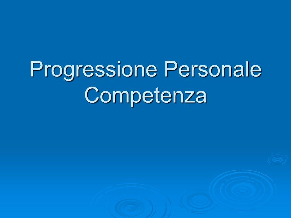 Progressione Personale Competenza