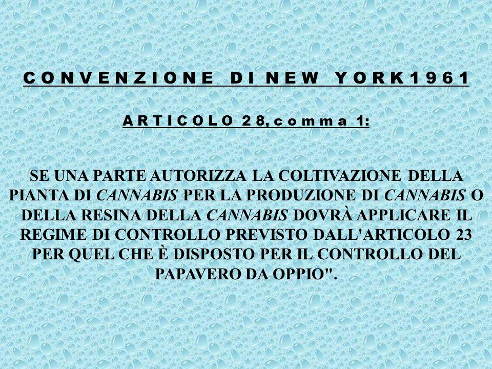 CONVENZIONE DI VIENNA SULLE SOSTANZE PSICOTROPE DEL 21 / 2 / 1971, RATIFICATA DALLITALIA CON LEGGE 25 / 7 / 1981, N.