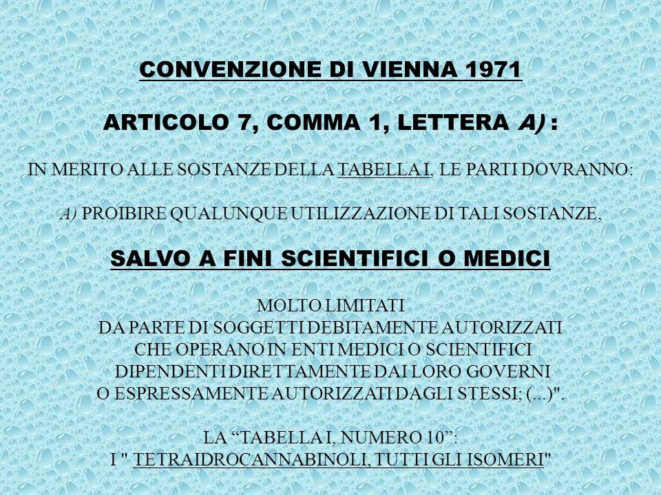 TESTO UNICO STUPEFACENTI 309/90 ART.