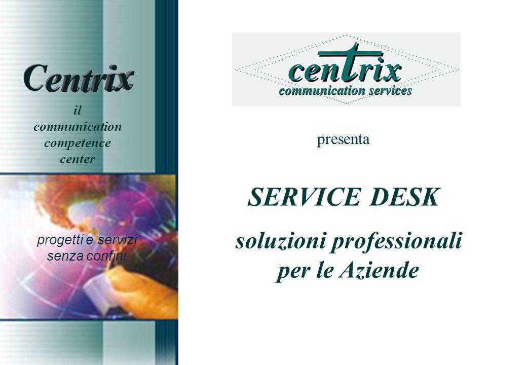 presenta SERVICE DESK soluzioni professionali per le Aziende progetti e servizi senza confini il communication competence center