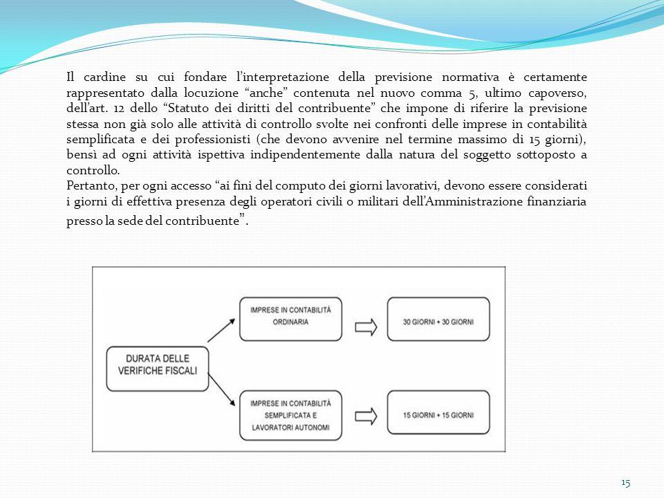 15 Il cardine su cui fondare linterpretazione della previsione normativa è certamente rappresentato dalla locuzione anche contenuta nel nuovo comma 5,