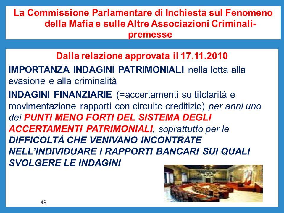 La Commissione Parlamentare di Inchiesta sul Fenomeno della Mafia e sulle Altre Associazioni Criminali- premesse Dalla relazione approvata il 17.11.20