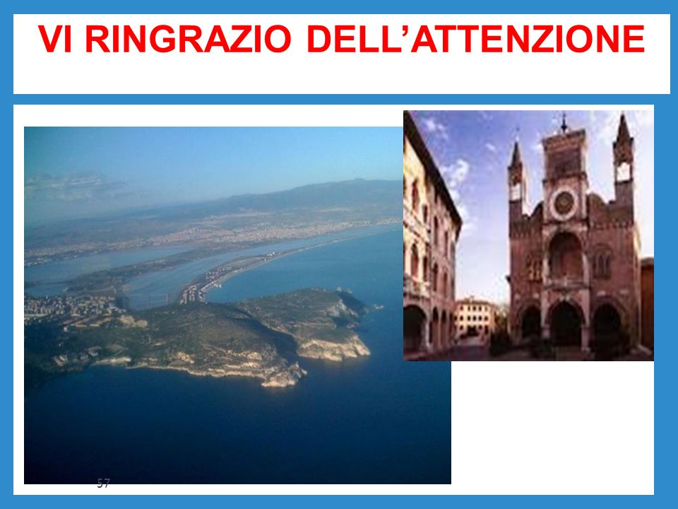 VI RINGRAZIO DELLATTENZIONE BBB 57