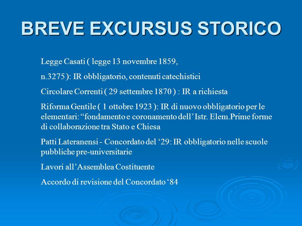 1.1 La legge Casati Successivamente si ebbe la legge Casati (legge n° 3725 del 13 novembre 1859) destinata a rimanere per molti decenni in Italia la legge fondamentale in materia scolastica.