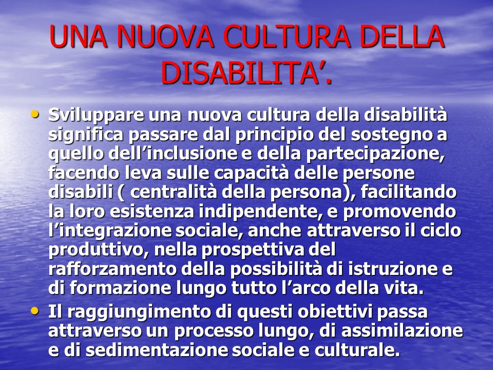 Dallindividuazione della situazione di handicap al Piano Educativo Individualizzato.