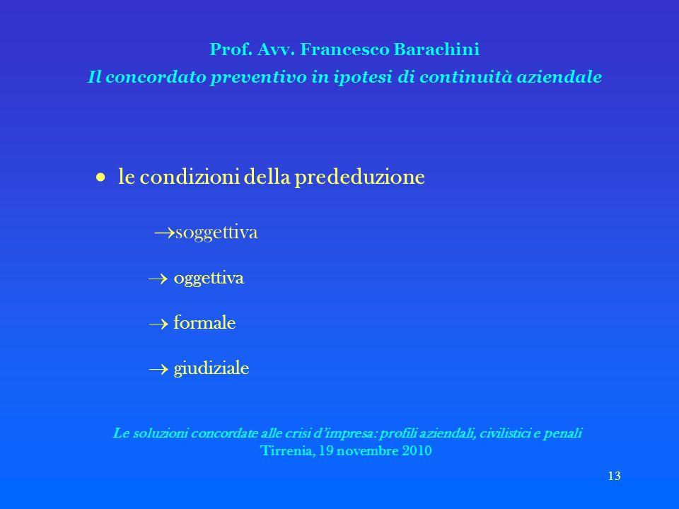 13 Prof. Avv.