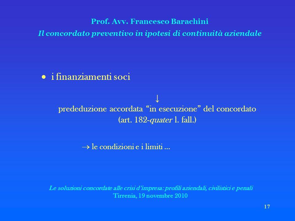 17 Prof. Avv.