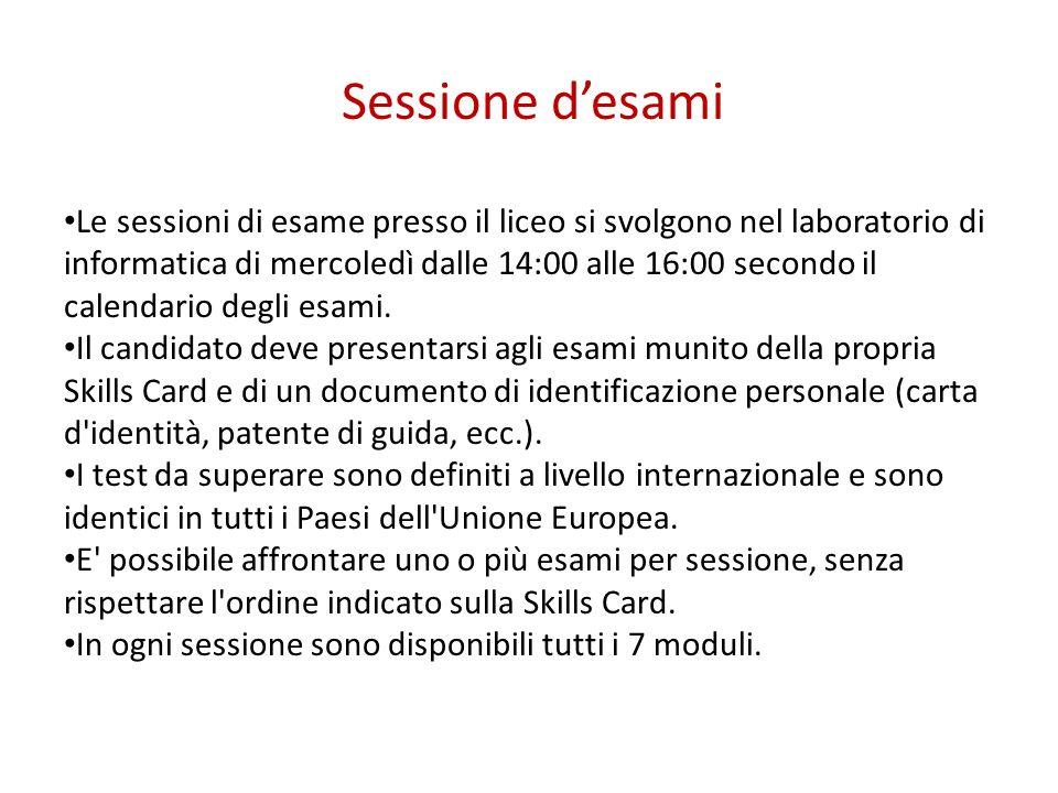 Sessione desami Le sessioni di esame presso il liceo si svolgono nel laboratorio di informatica di mercoledì dalle 14:00 alle 16:00 secondo il calenda
